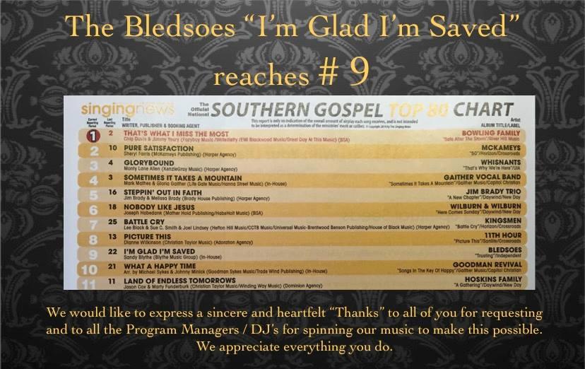 singing news chart pic # 9 i'm glad i'm saved